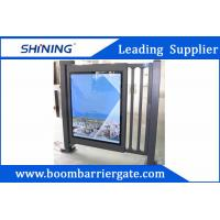 China Aluminum Alloy Metal Automatic Swing Gate Door With Adjustable Led Scrips wholesale