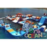 China Adults Square Inflatable Floating Backyard Water Slide Park Waterproof 30X30M wholesale