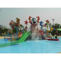 China Fiberglass / Steel Pipe Water Slides , Valves Kids' Water Playground For Water Park on sale