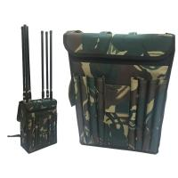 Buy cheap Wide Band Backpack Mobile Signal Jammer 8 Fiberglass Epoxy Antennas For Military from wholesalers