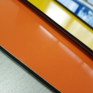 China Uniform Color Coating Aluminum Composite Panel Plastic Aluminum Composite Sheet wholesale