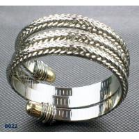 China Durable color metal bangles with rhodium plated, with silver, gold , black , white plated wholesale