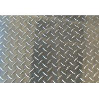China Thickness Coated Aluminum Checkered Sheet , Roll Embossed Aluminum Plate For Insigns wholesale