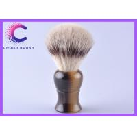 China Professional Synthetic Hair Shaving Brush with faux horn handle  for Gentalman wholesale