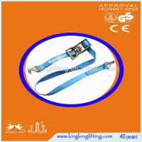 China High Tenacity  Industrial Lifting Straps Ratchet Tie Down 1500kg Blue Color on sale