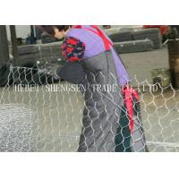 China Low Carbon Steel Gabion Wire Mesh 80 × 100 Galfan Gabion Mesh Wire For Flood Control wholesale