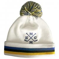 China Acrylic Beanie Ski Winter Hats Knitted Fleece Fabric Inside With Embroidery wholesale