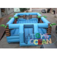 China Giant Beach Blue Inflatable Interactive Games Security Themed Volleyball 52X25Ft wholesale