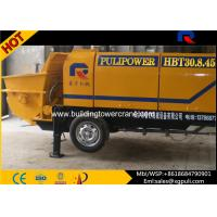Quality HBT Small Electric Concrete Pump With Programmable Logic Controller 45KW Power for sale