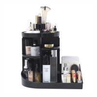 China 2 in 1 makeup display rack storage case 360 degree rotating acrylic cosmetic storage organizer wholesale