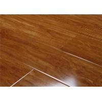 China Eco Dark  High Gloss Laminate Flooring , Laminate Floating Floor Covering for Residential Use wholesale