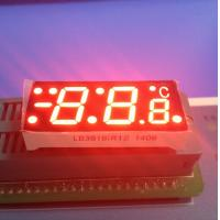 China SGS Red  7 Segment Display For Digital Temperature Controller , Common Cathode 7 Segment Display wholesale