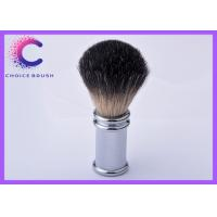 China Mens Badger Hair Shaving Brush Silvertip Stainless Metal Handle Barber Tool wholesale