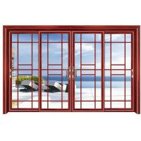 Quality Commercial Double Glazed Aluminium Sliding Door External Grill Design for sale