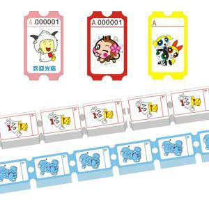 China Mini Kids Attack ball toss custom lottery tickets,raffle ticket paper wholesale