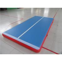 China 3m Inflatable Jumping Mat With Velcro System , Gymnastics Air Track For Home wholesale