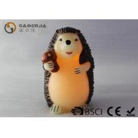 China Decorative Flameless Candles , Battery Operated Pillar Candles Hedgehog Shaped wholesale