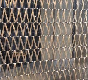 China SS Sus 304 Grade Spiral Wire Mesh Conveyor Belt Decorative Wire Mesh wholesale