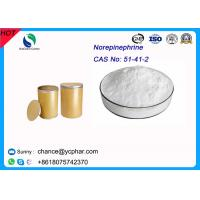 China Prohormones Steroid Norepinephrine Bitartrate Raw Meterial Norepinephrine CAS 51-41-2 For Anti-shock wholesale
