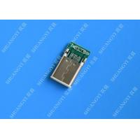 China Male Mobile Phone USB Connector Type C USB 3.1 With Copper Alloy Contact wholesale