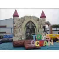 China Business Huge Funny Kids Inflatable Playground For Rental Jumping Pink Roof wholesale