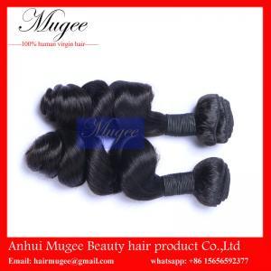 China Most popular human virgin hair, 100% indian hair extension, soft indian virgin hair thick bundles on sale