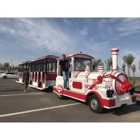 China Theme Park Electric Trackless Train Trackless Kiddie Train Customize Color wholesale