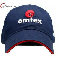 Quality Navy  Adult Cotton Embroidered Baseball Caps with 3D Letter Embroidery for sale