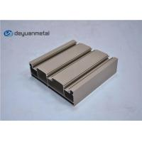 China Standard Tan Powder Coating Aluminum Extrusions Shapes With Alloy 6063-T5 wholesale