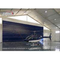 China High Reinforce  Aluminum Frame Blue Door Aircraft Hangar Tent for Helicopter wholesale