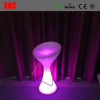 China 2016 Hot Sale Plastic Glowing Chair With Rechargeable RGB LED Lights on sale