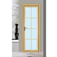 China Silver Aluminium Glass Doors / Office Tempered Interior Glass Door wholesale