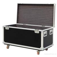 China Black Plastic 6u Flight Cases For Speaker , Metal Tool Case wholesale