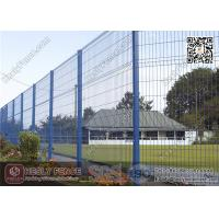 China 2.0m height X 2.5m Width  Welded Wire Security Mesh Fencing Panels with Green Color PVC coated wholesale