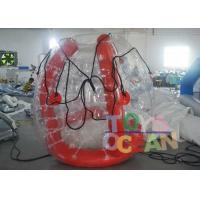 Quality Funny Red Color Inflatable Barf Ball Water Tube Playing On Water for sale