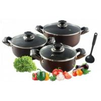 China 6 Piece Nonstick Aluminum Cookware Set with Heat Resistant Coating wholesale