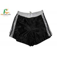 China Plain Black Nylon Womens Board Shorts For Running / Surfing Sports Customized on sale