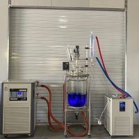 China 50 L 10 Liter Chemical Reactors Pilot Plant GG-17 20L Double-layer Glass Reactor for Labs Chemistry Reaction wholesale