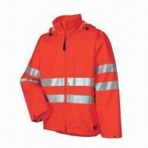 China Fluorescence Men's Uniform Rainwear/Raincoat with PU fabric, Meets EN471 Standard wholesale
