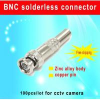 China 100PCS/lot BNC solderless connector BNC Male Video Plug Coupler Connector Adapter bnc connector cctv accessory wholesale