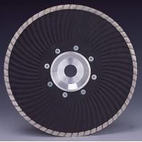 China Marble granite Cutting Turbo Wave Diamond cutting Blades with Flange wholesale