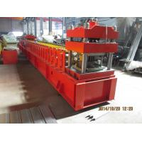 China European Metal Door Slot Profile Roll Forming Machine With Automatic Punching 3 - 5 m / min wholesale