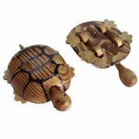 China Wooden toy in tortoise shape, has 4 wheels wholesale