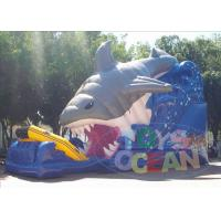 China Backyard Shark Inflatable Slides wholesale