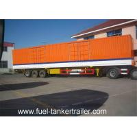 China 3 Axle Dry Van Cargo Box Enclosed Trailer / Curtain side semi trailer on sale