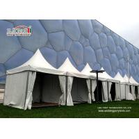 China Resort Gazebo Canopy Tent For Outdoor Event , Aluminum White Color Structure With Decoration wholesale