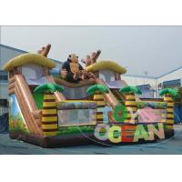 China Jungle Inflatable Monkey Jumping Trampoline Playground Outdoor Kids Party EN14960 wholesale