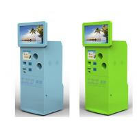 Buy cheap Custom Recycling Corrugated Cardboard Floor Standing Display Kiosk For Bus from wholesalers
