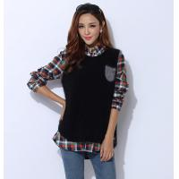 China Autumn Cashmere Sweaters / Sleeveless Knit Jacket With Front Pocket wholesale