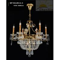 China Candle Bulb Crystal Pendant Chandelier Decorative Ornate Ceiling Lights For Hall wholesale